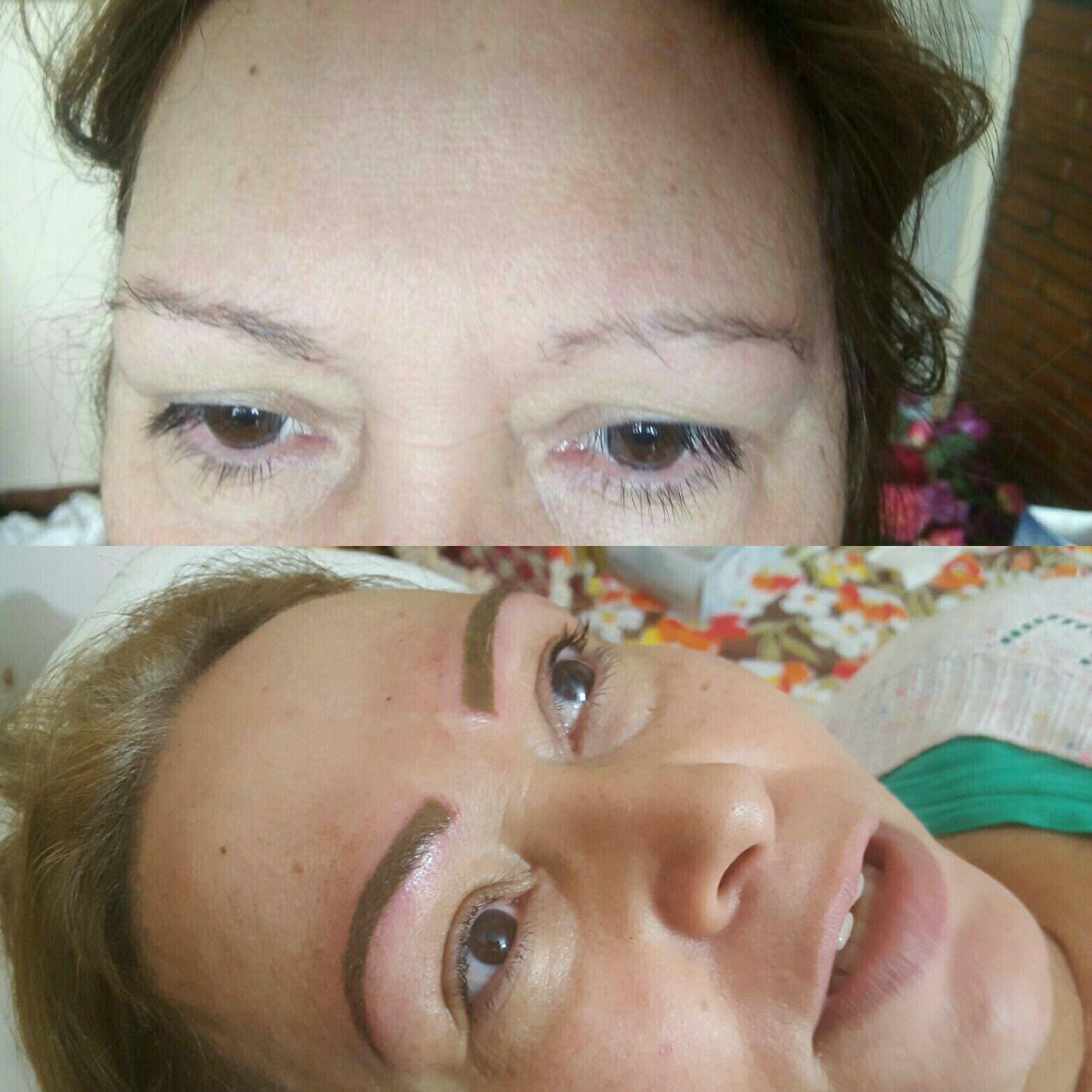 Micropigmentação técnica esfumada. estética cabeleireiro(a) maquiador(a) micropigmentador(a)