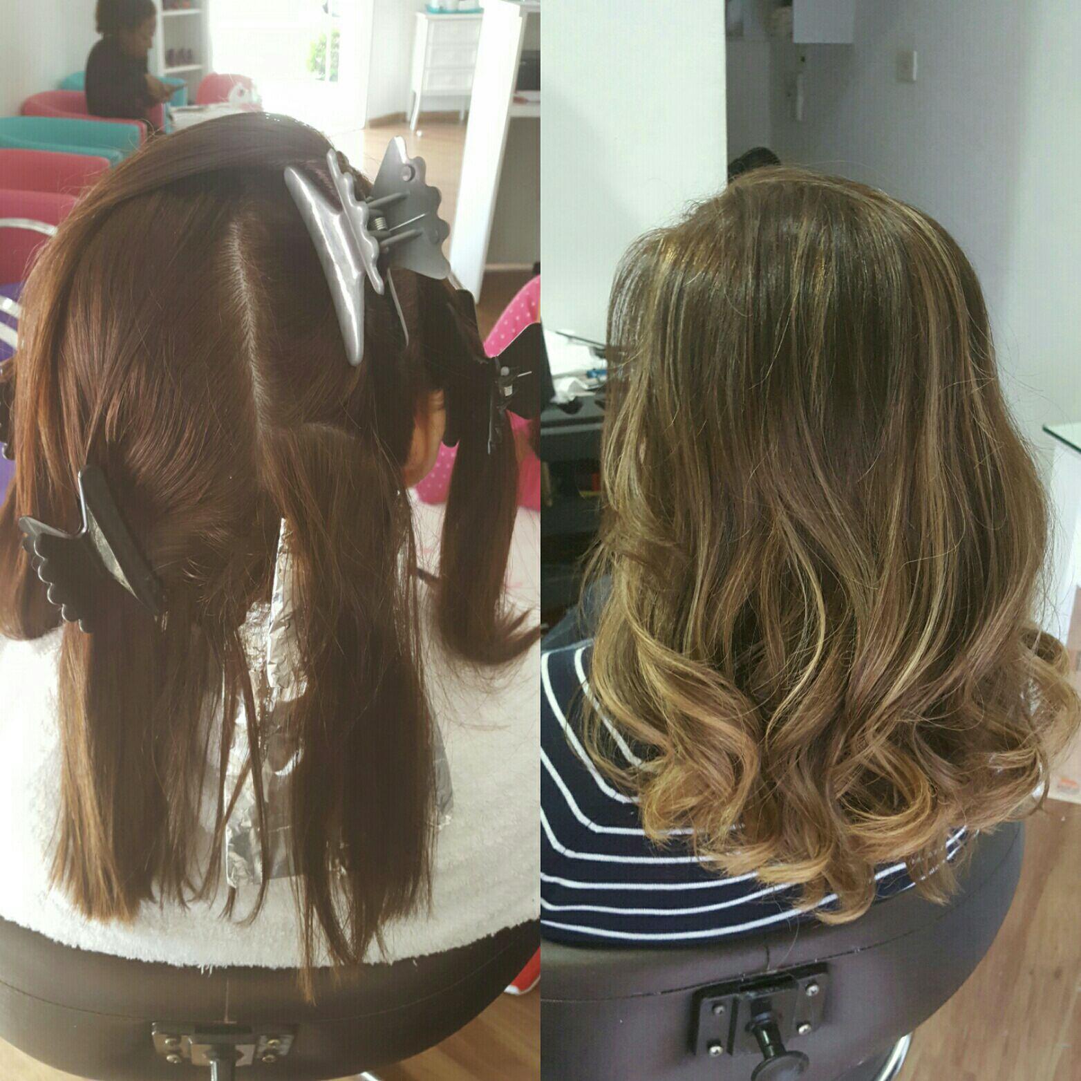 Ombre hair + contorno cabelo cabeleireiro(a) maquiador(a) micropigmentador(a)