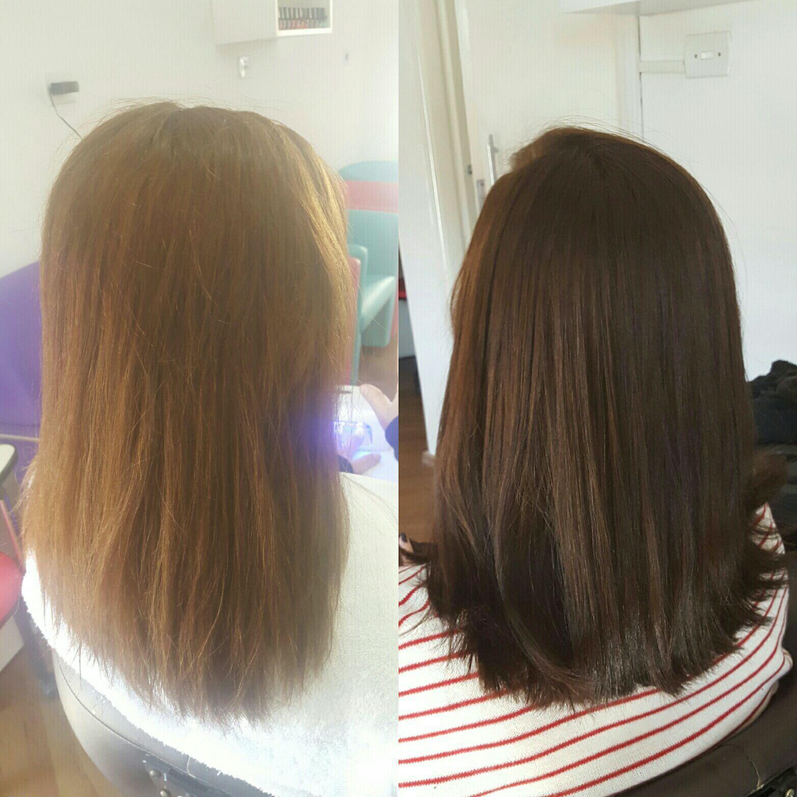 Coloração + corte cabelo cabeleireiro(a) maquiador(a) micropigmentador(a)