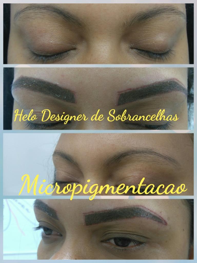 Micropigmentacao em sobrancelhas  designer de sobrancelhas micropigmentador(a)