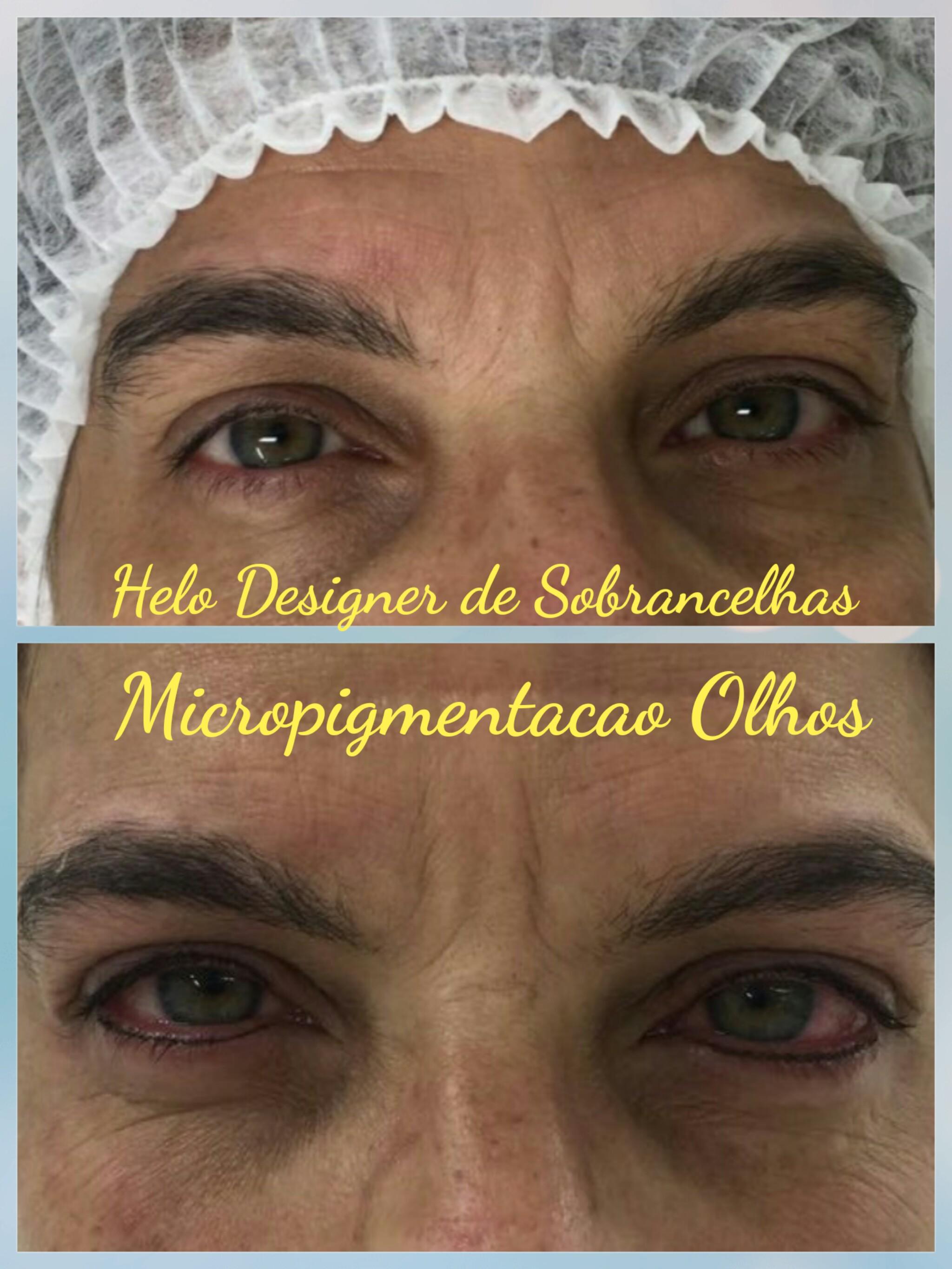 Micropigmentacao em Olhos 👀  designer de sobrancelhas micropigmentador(a)
