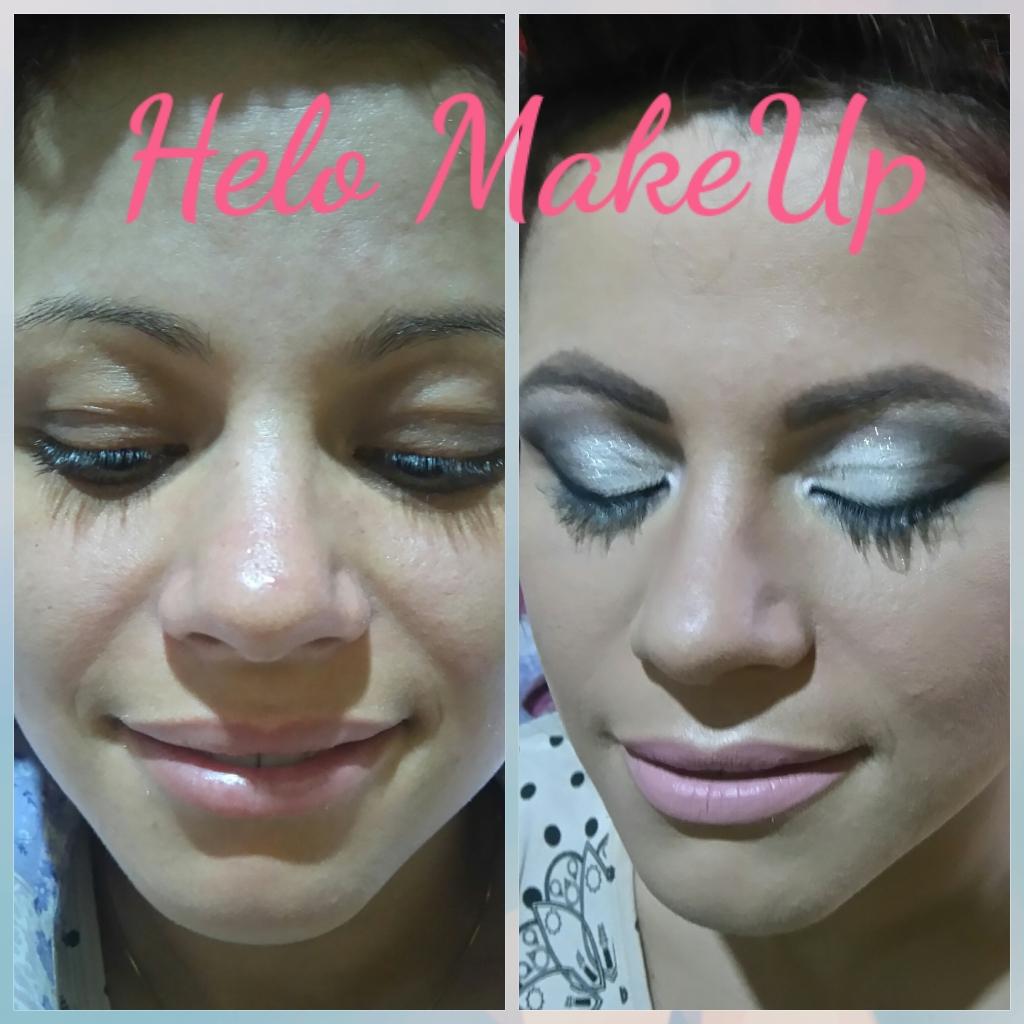 #makeup #dourado #prata #linda  designer de sobrancelhas micropigmentador(a)