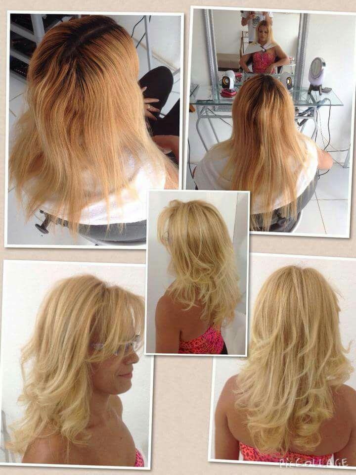 Retoque de raízes com luzes e mega-hair  para volume apenas cabelo cabeleireiro(a) stylist / visagista auxiliar administrativo