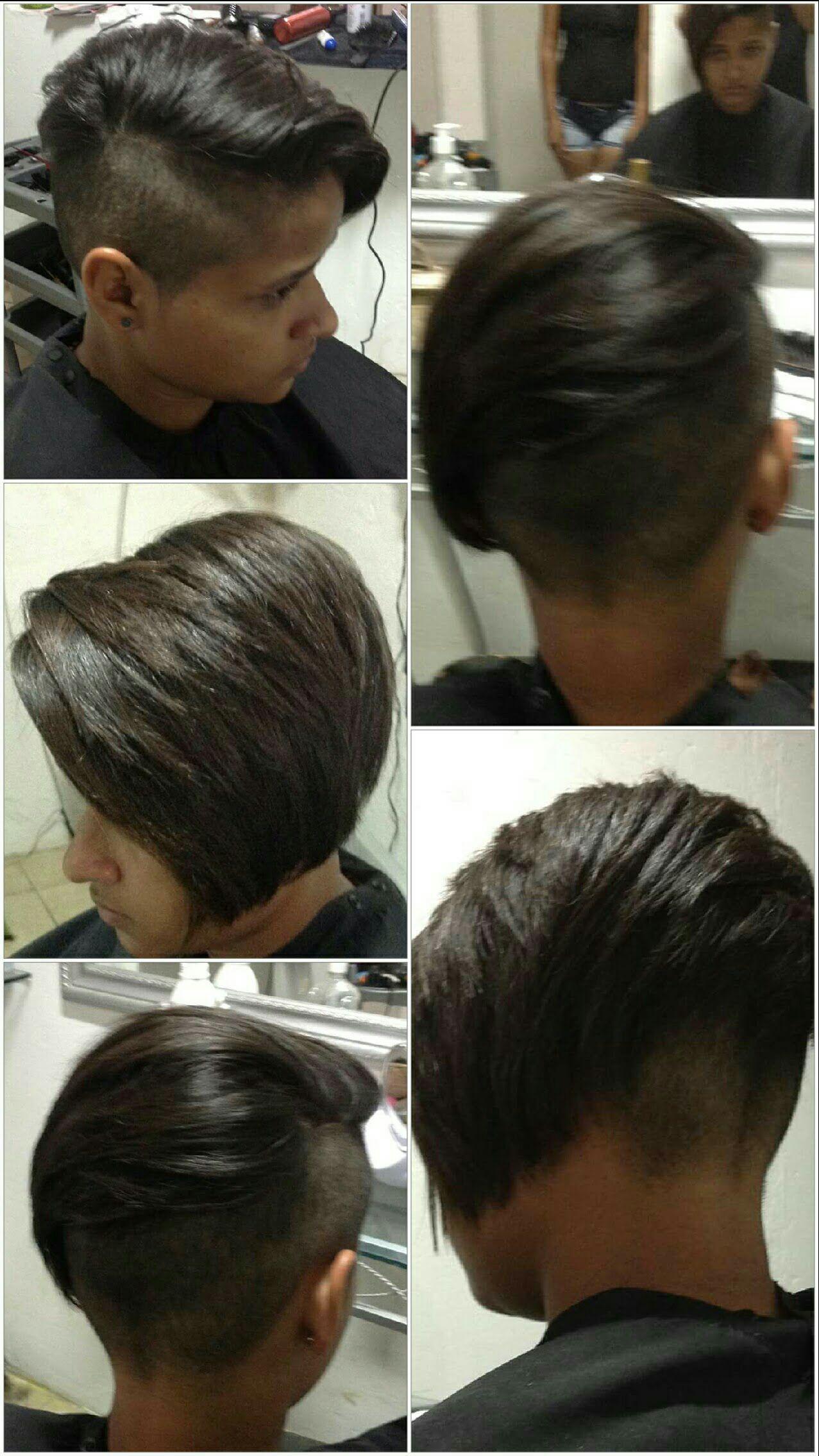 Under cut feminino com progressiva cabelo cabeleireiro(a) stylist / visagista auxiliar administrativo