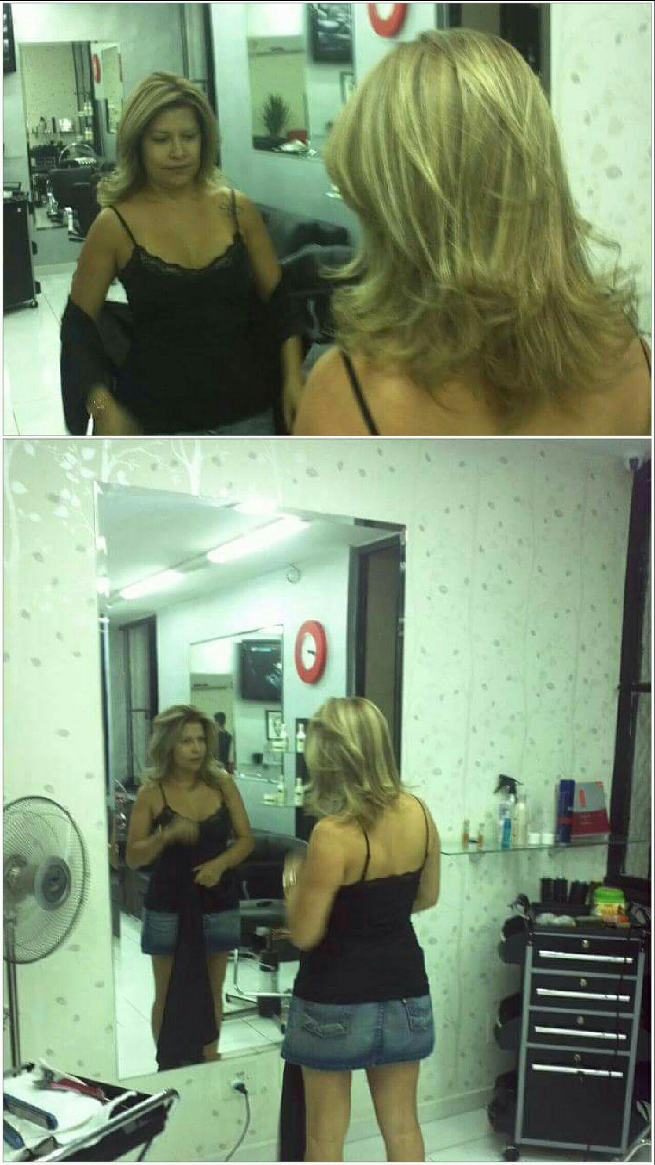 Corte e mechas.. Instagram não ajuda a revelar a cor.. cabelo cabeleireiro(a) stylist / visagista auxiliar administrativo