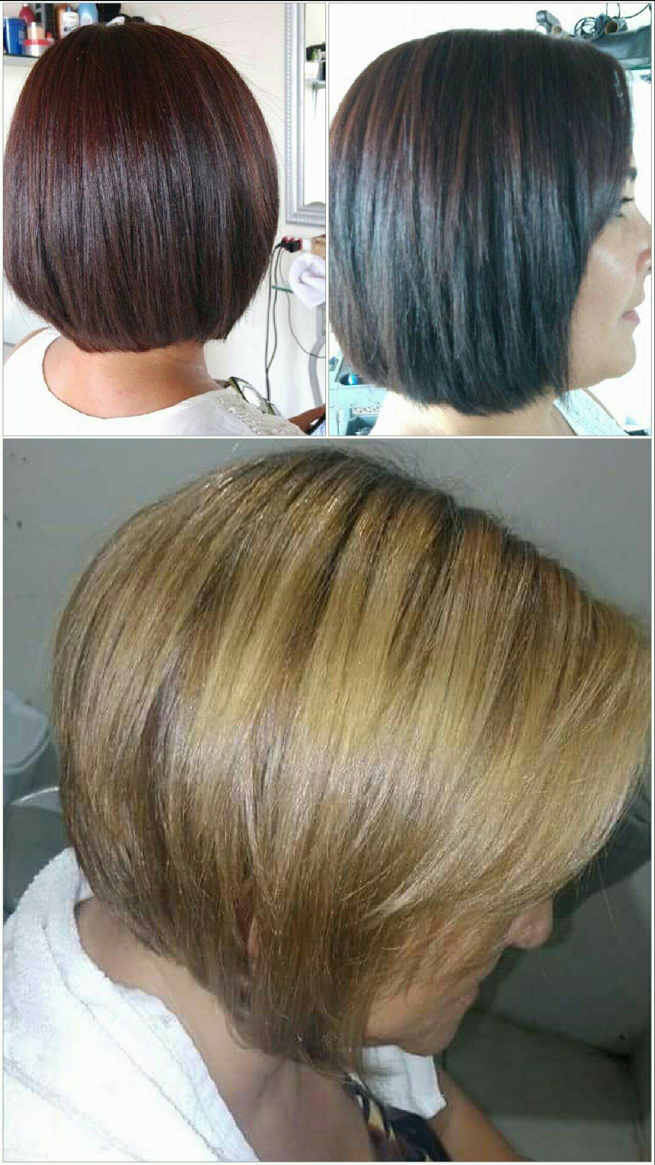 Corte mais progressiva.. depois corte coloração e mechas cabelo cabeleireiro(a) stylist / visagista auxiliar administrativo