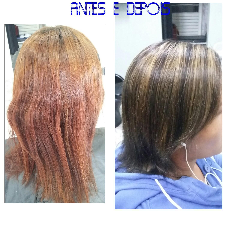 correção de cor!!!  cabelo auxiliar cabeleireiro(a) escovista recepcionista