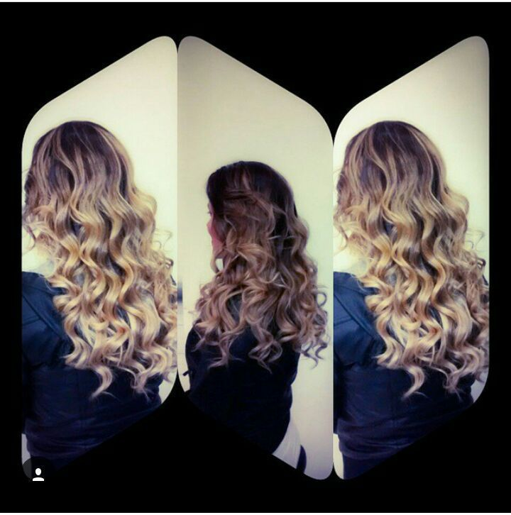 Ombre hair  e lindas ondas no baby liss . cabelo cabeleireiro(a)