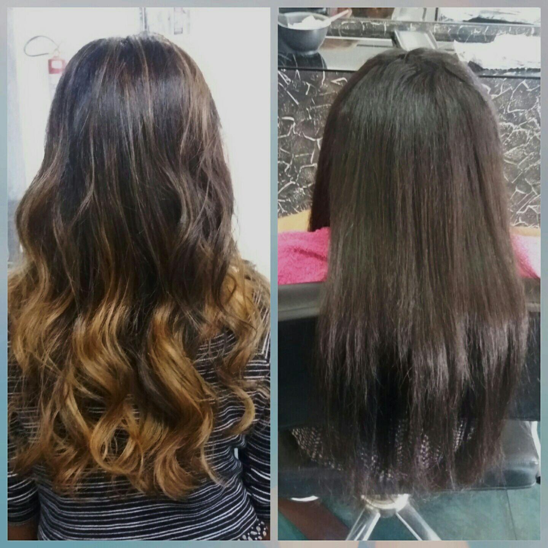 Ombre hair em tom dourado também e bonito 💄 cabelo cabeleireiro(a)