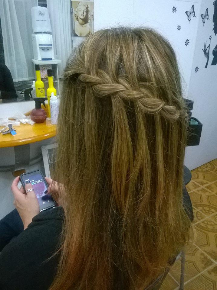 Trança lateral cabelo cabeleireiro(a)