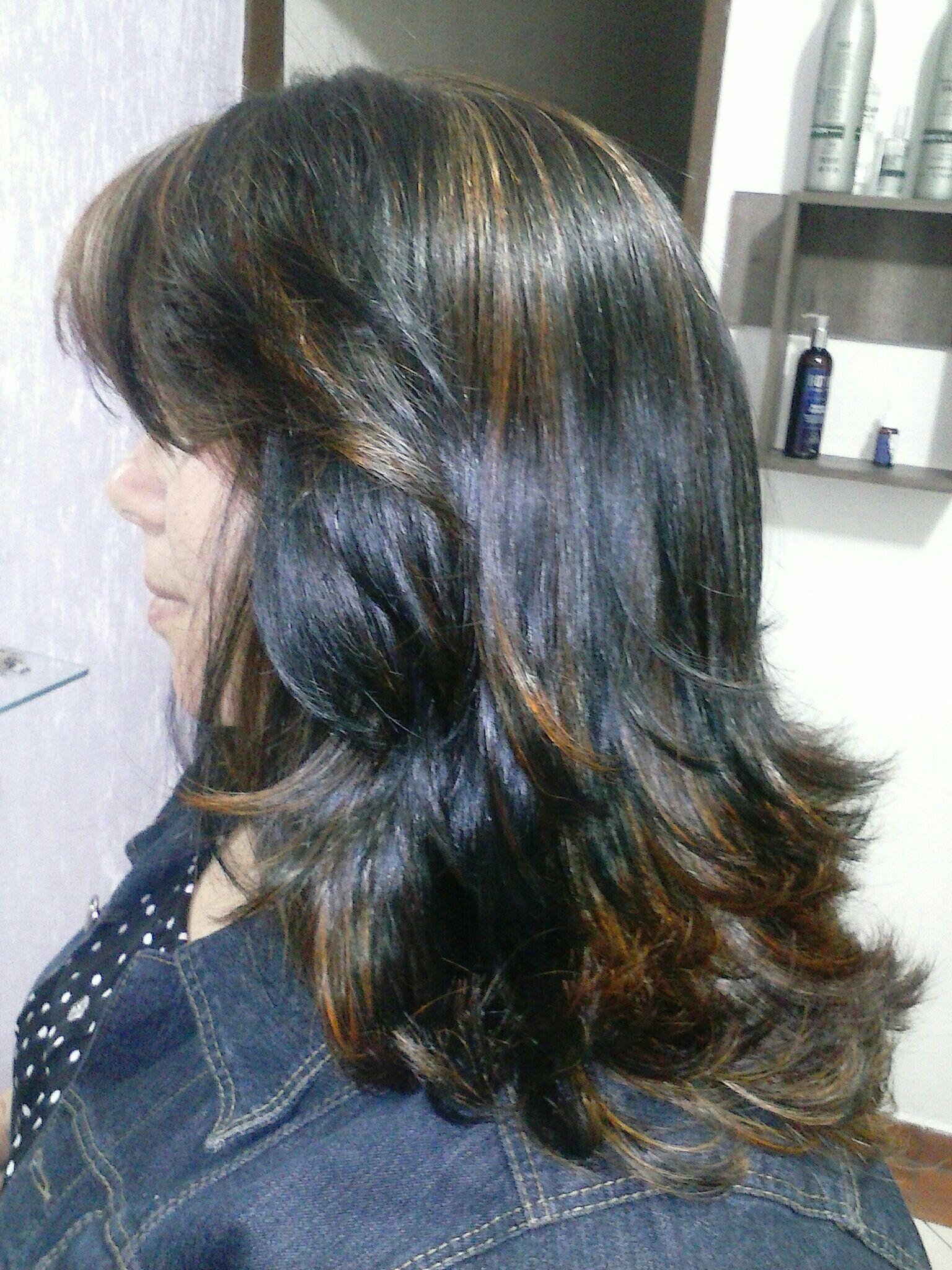 Pontos de luz em tom acobreado cabelo stylist / visagista cabeleireiro(a) outros