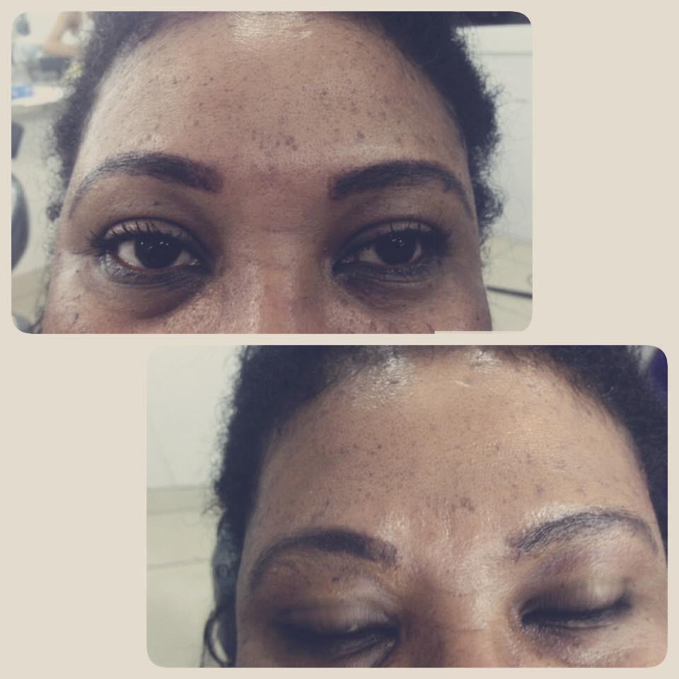 Menu primeiro design de sombrancelha com henna estética designer de sobrancelhas depilador(a)