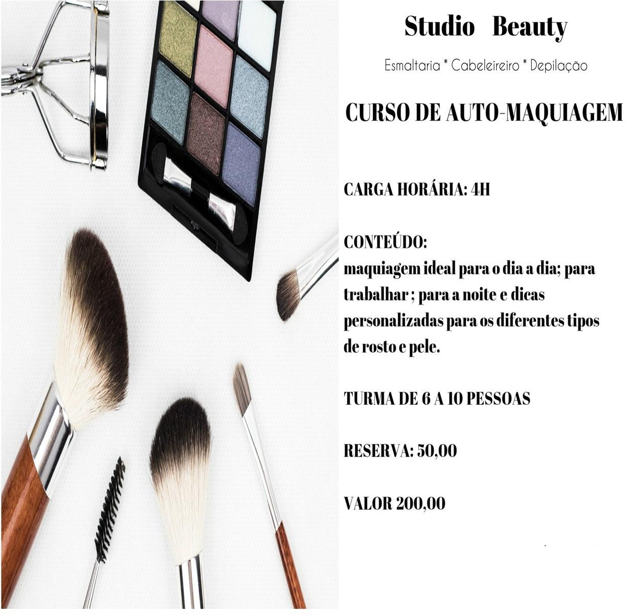 Cursos de auto maquiagem com chá da tarde e muita animação... aqui na Studio Beauty empresário(a) / dono de negócio