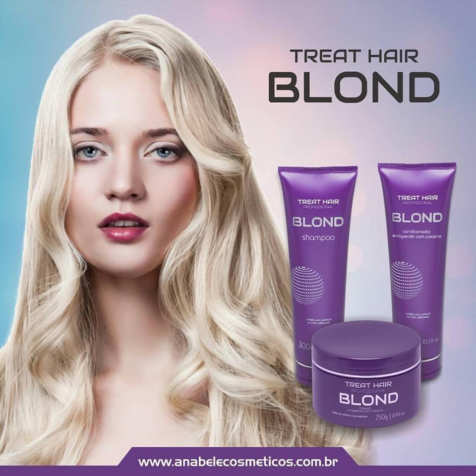 Linha Home Care #treatblond #loirosperfeitos #anabelecosmeticos  #platinados   cabelo gerente