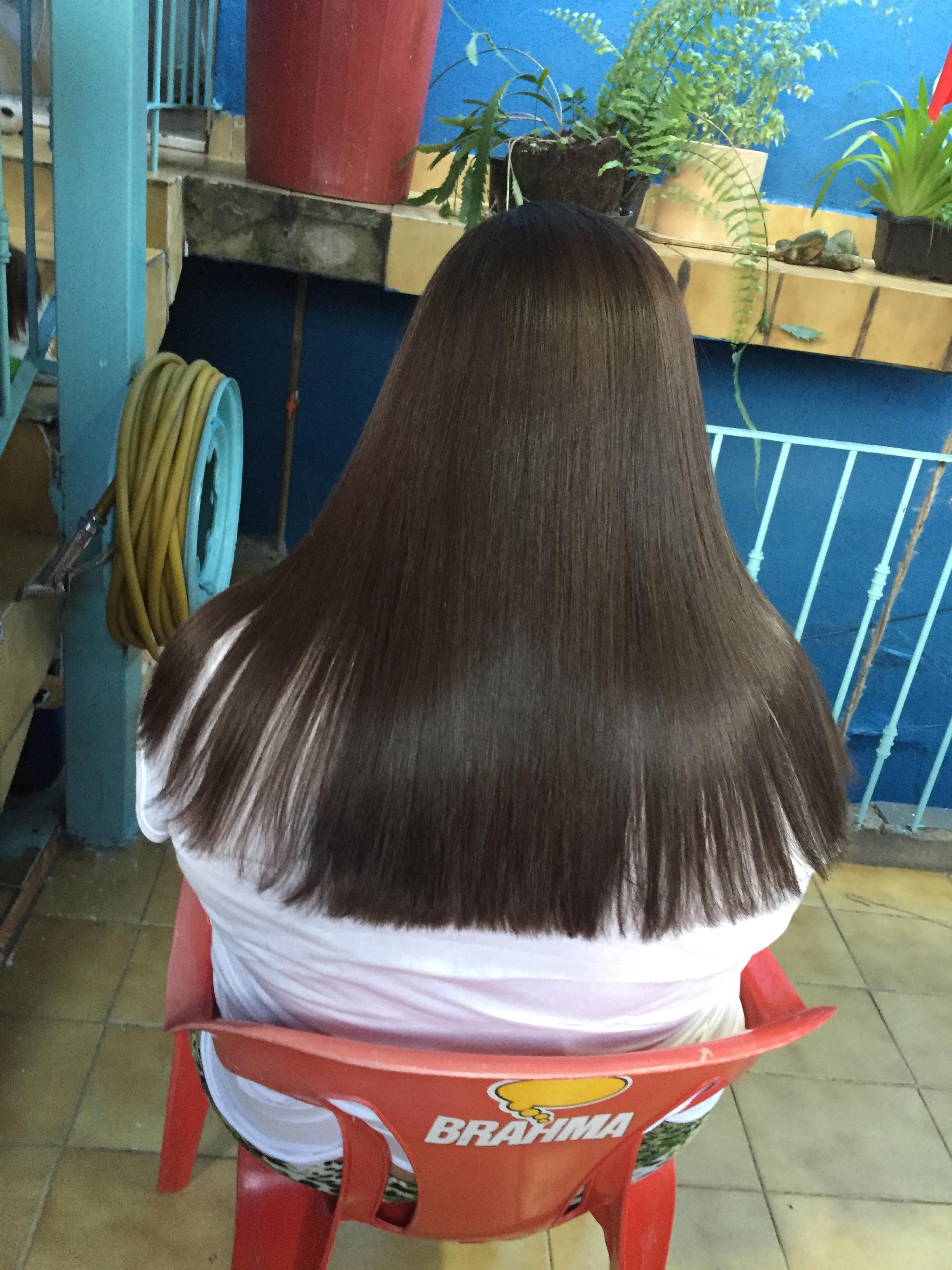 Escova e corte ❤ cabelo auxiliar cabeleireiro(a)