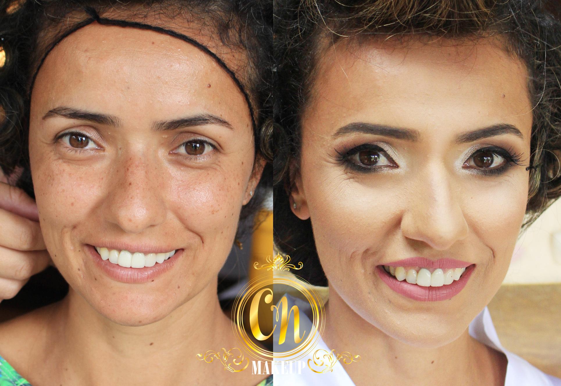 Antes e depois dessa noiva linda ♥ . #maquiagemlitoral #maquiadoraubatuba #mua #maquiagemubatuba  #ubatuba  #makeupartist #noiva #maquiagemnoiva #bridalmakeup #bridemakeup #neutralmakeup #maquiagemneutra #bride #sephora #marykay #maybelline #catharinehill #tracta #dailus maquiagem maquiador(a)