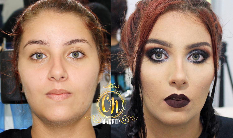 Antes e depois da linda da Vicky, maquigem ideal para sair a noite! . #maquiagem #maquiagempro #makeupartist #mua #maquiadoraubatuba  #makeup #makeuppro #maquiagemneutra #batomescuro #darklipstick #maquiadora maquiagem maquiador(a)