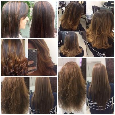 na imagem a cima tem trabalhos de iluminação, mechas mel, ombre hair, escova modelada e progressiva. cabelo auxiliar cabeleireiro(a) cabeleireiro(a)