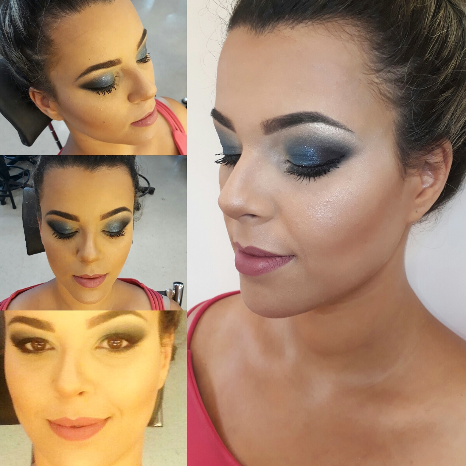 Make Formanda #makeazul #makeformanda #toquedenatureza #anastasiabeverlyhills #urbandecay #catharinehill maquiagem maquiador(a) designer de sobrancelhas