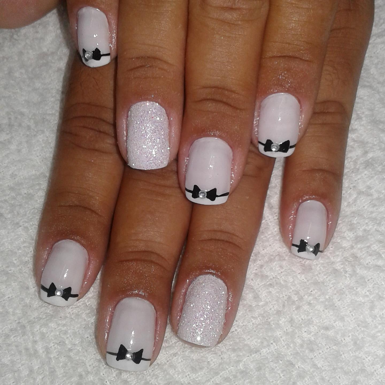 Francesinha com laço.  #francesinhadecorada #francesinha #unhalinda #unhadecorada manicure e pedicure podólogo(a)