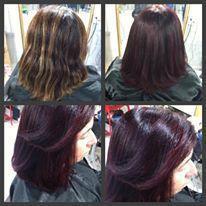 Correção de cor cabelo auxiliar administrativo