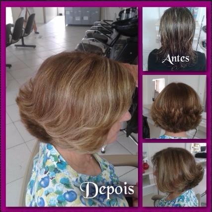 Corte Channel de Bico com camadas cabelo cabeleireiro(a) auxiliar cabeleireiro(a) maquiador(a)