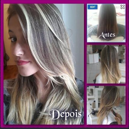 Ombre Hair com Luzes cabelo cabeleireiro(a) auxiliar cabeleireiro(a) maquiador(a)