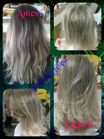 Retoque de Luzes cabelo cabeleireiro(a) auxiliar cabeleireiro(a) maquiador(a)