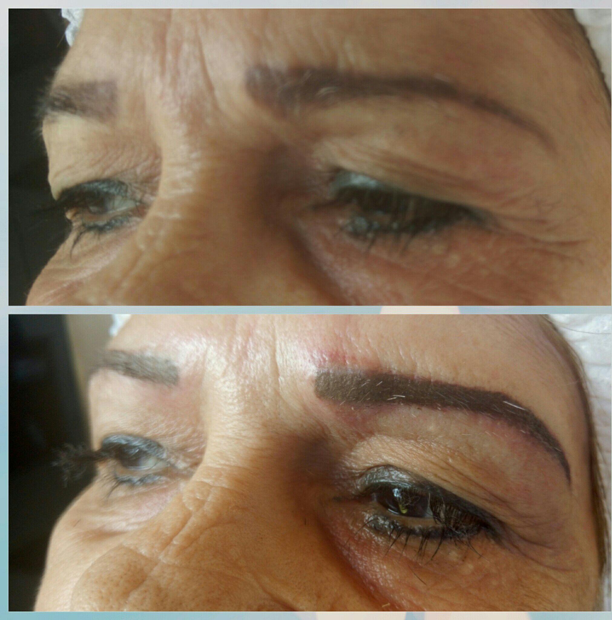 Despigmentacao e correção de sobrancelhas outros micropigmentador(a) maquiador(a) designer de sobrancelhas depilador(a)