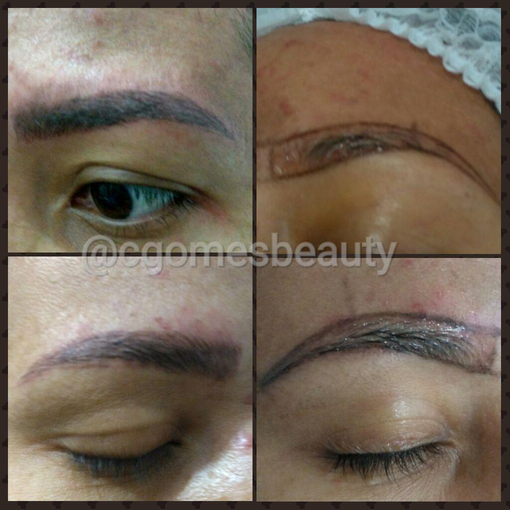 Microblading sobrancelha fio à fio estética maquiador(a) auxiliar cabeleireiro(a) designer de sobrancelhas