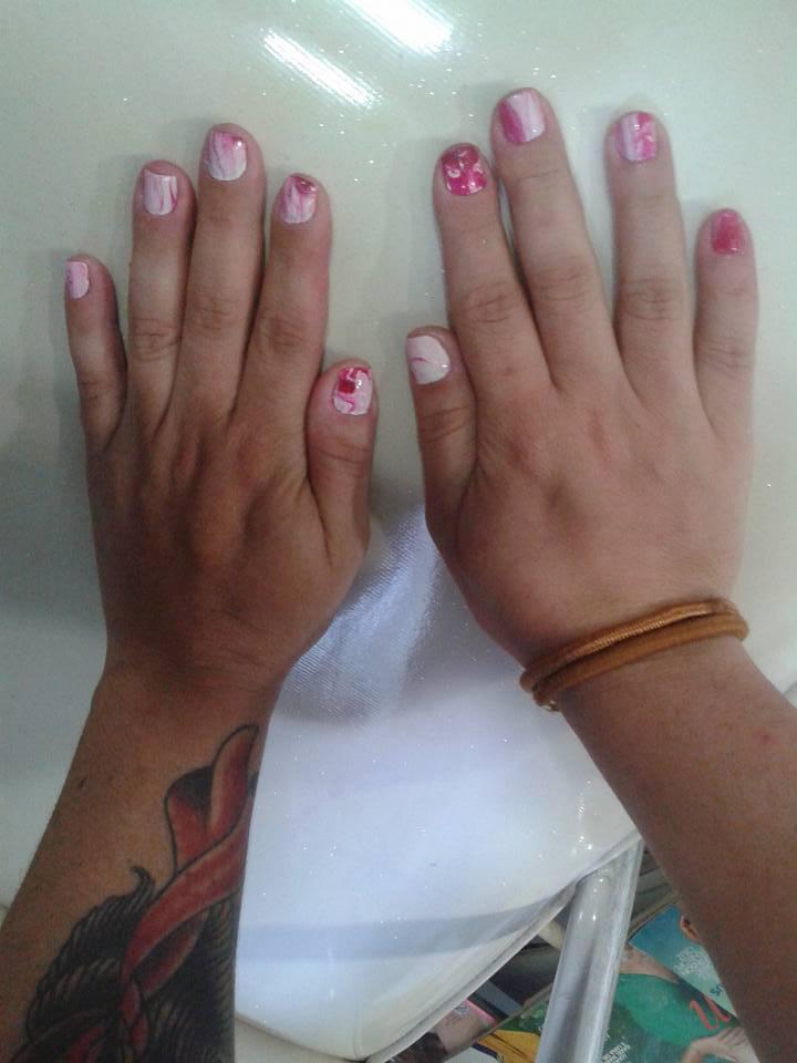 #unhas #marmorizadas unha manicure e pedicure maquiador(a) auxiliar cabeleireiro(a)