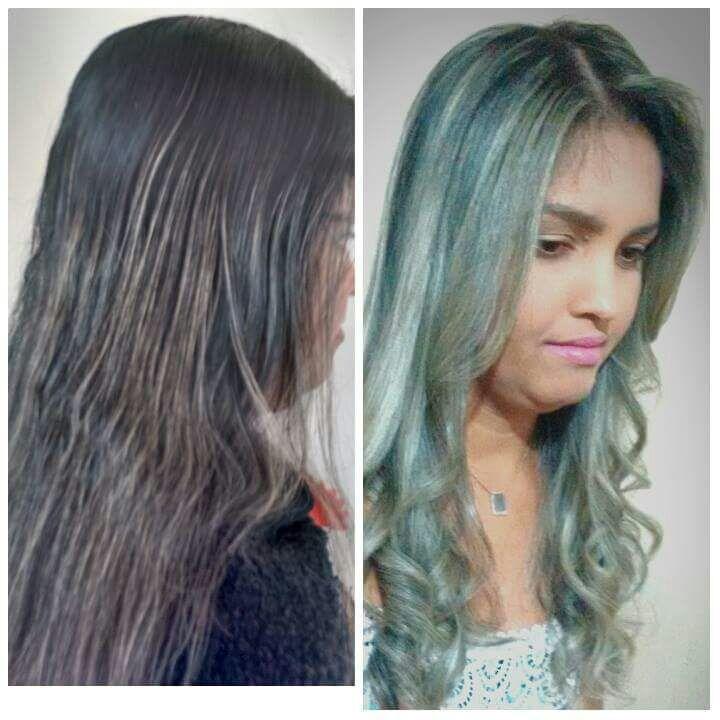 Mechas na altura 989. cabelo cabeleireiro(a) maquiador(a) designer de sobrancelhas