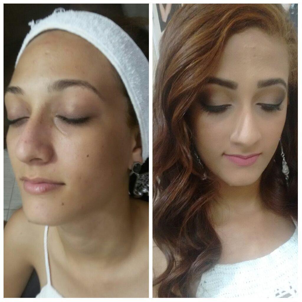 Maquiagem . escova modelada e designer de sobrancelha. maquiagem cabeleireiro(a) maquiador(a) designer de sobrancelhas