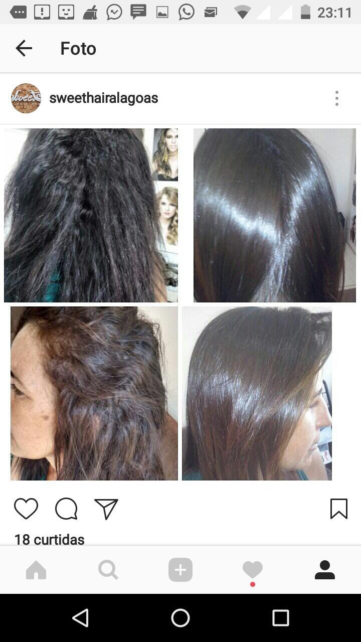 Semi definitiva #sweethair #shampooquealisa #thefirst  cabelo cabeleireiro(a) maquiador(a) designer de sobrancelhas
