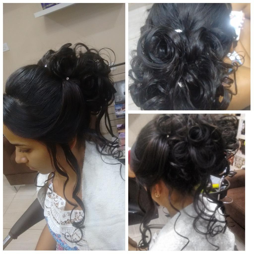 #penteado #madrinha cabelo cabeleireiro(a) maquiador(a) designer de sobrancelhas