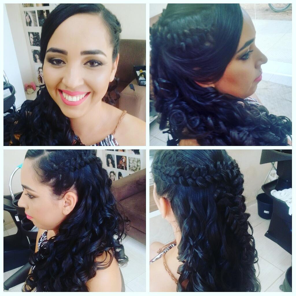 #penteado #make #madrinha  cabelo cabeleireiro(a) maquiador(a) designer de sobrancelhas