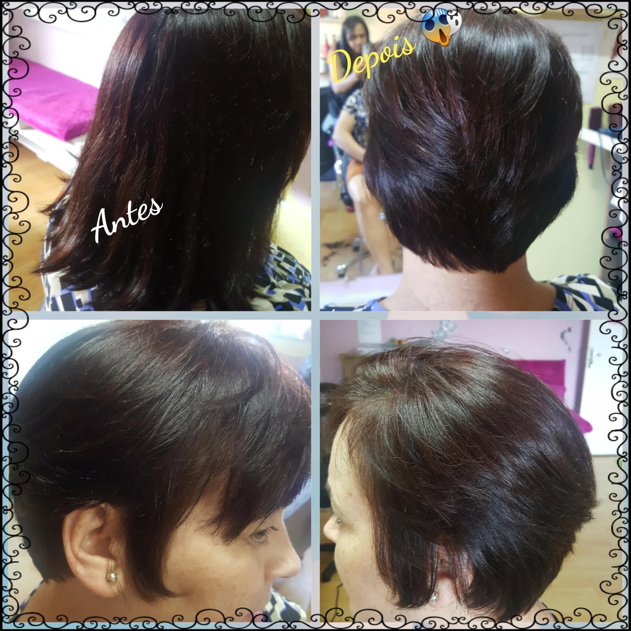 Corte Bob curto repicado  cabelo cabeleireiro(a) manicure e pedicure micropigmentador(a)