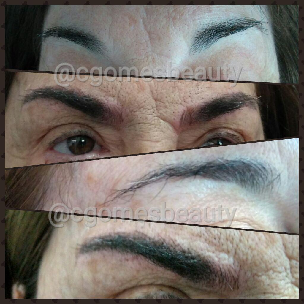 Microblading estética maquiador(a) auxiliar cabeleireiro(a) designer de sobrancelhas