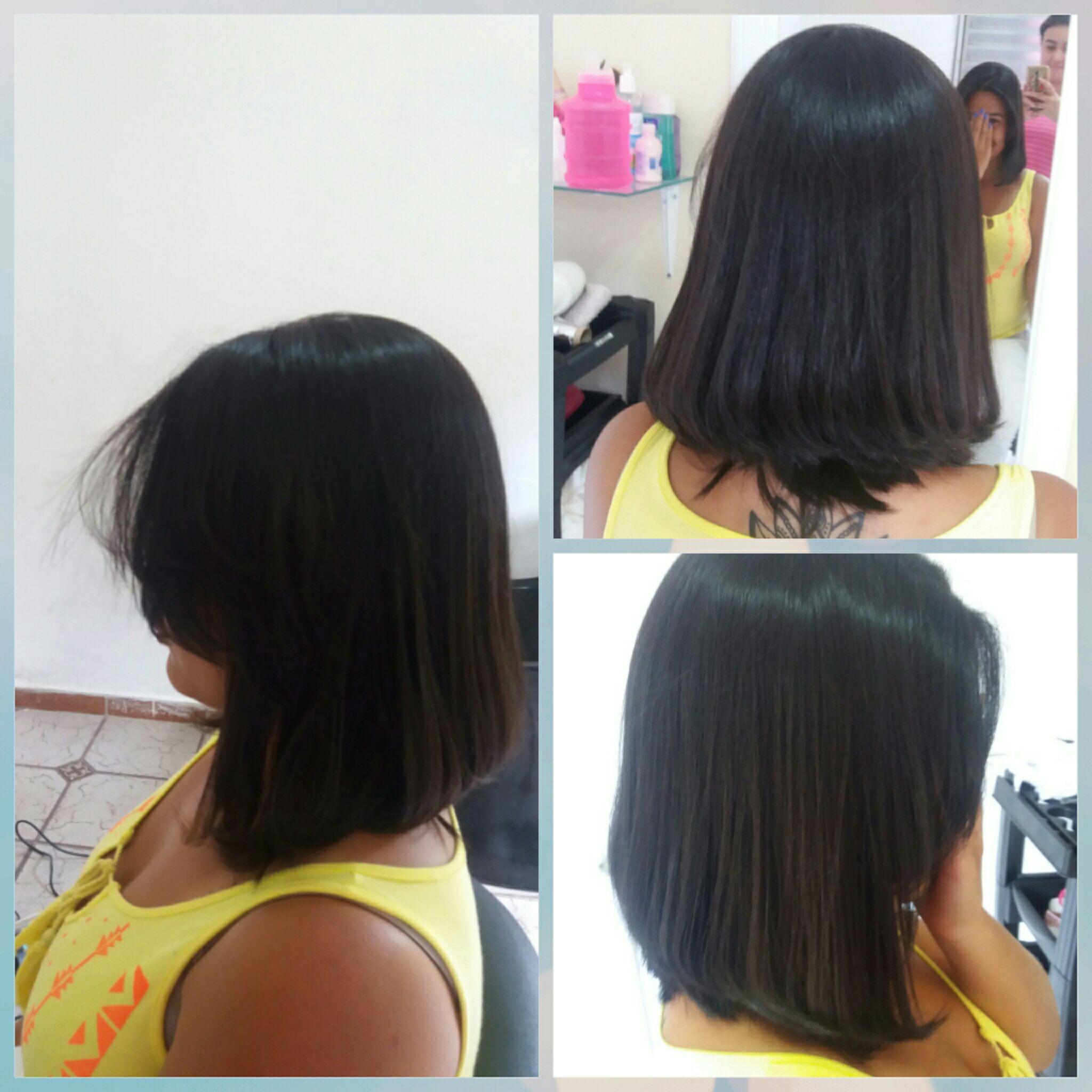 Corte chanel de bico cabelo maquiador(a) designer de sobrancelhas maquiador(a) maquiador(a)