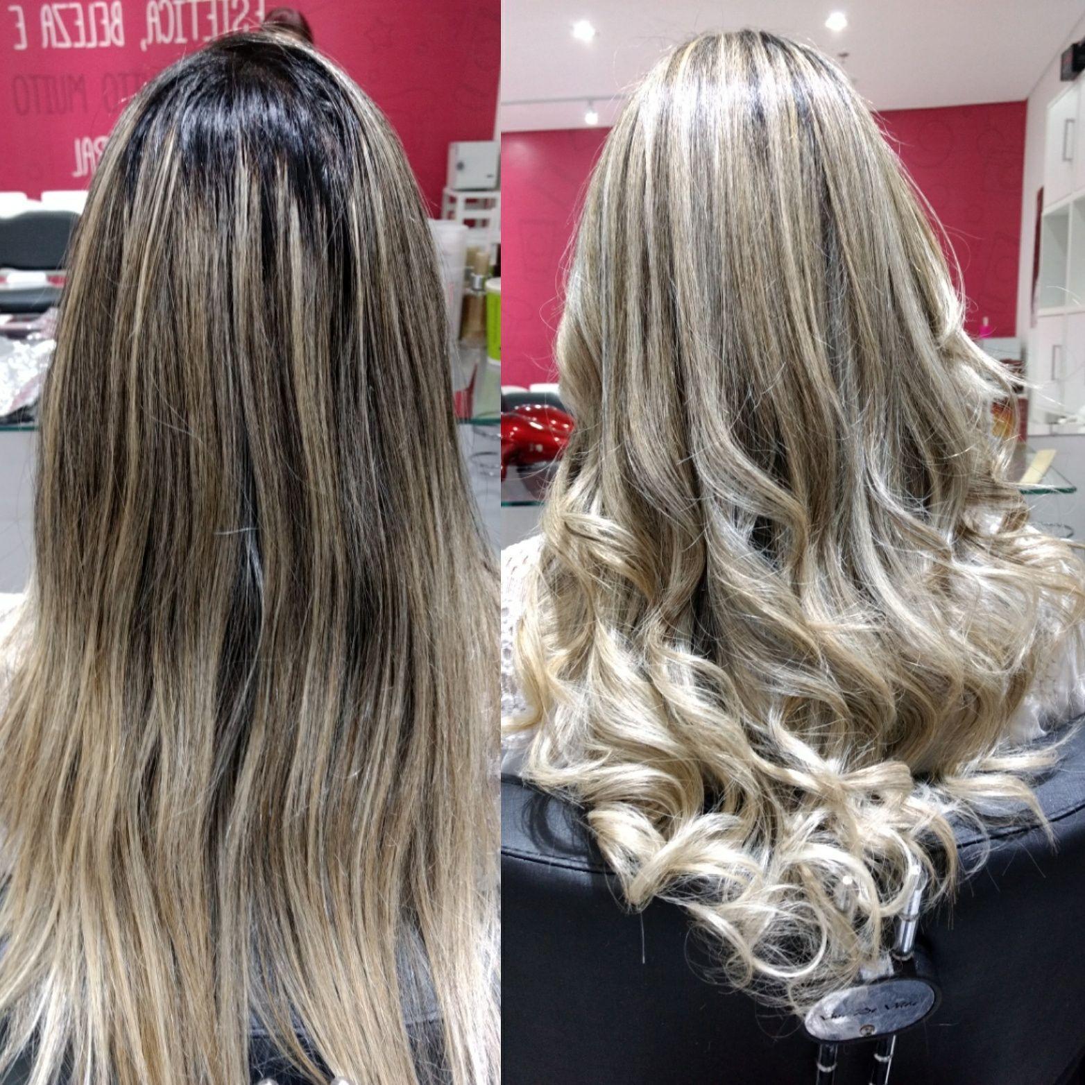 Correção de cor e reflexo cabelo cabeleireiro(a) designer de sobrancelhas recepcionista