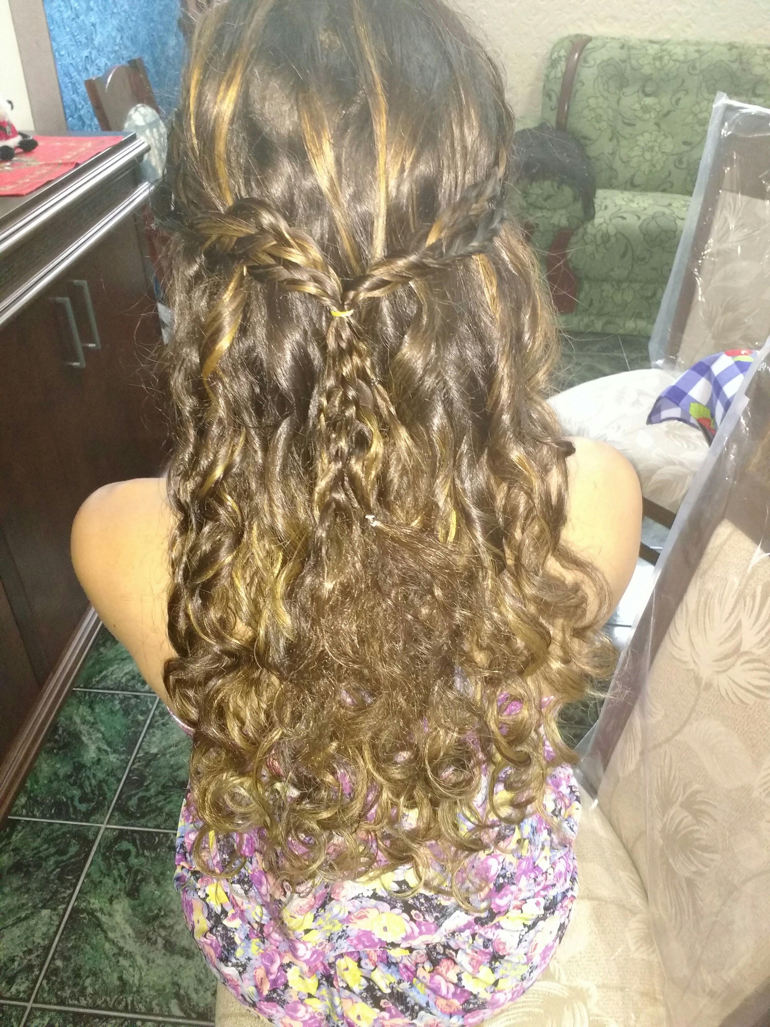 Luzes capuccino é penteado singelo ...madrinha cabelo cabeleireiro(a)