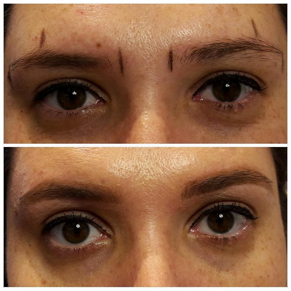 Design de sobrancelhas feito com cera morna e finalização com maquiagem. outros maquiador(a) designer de sobrancelhas
