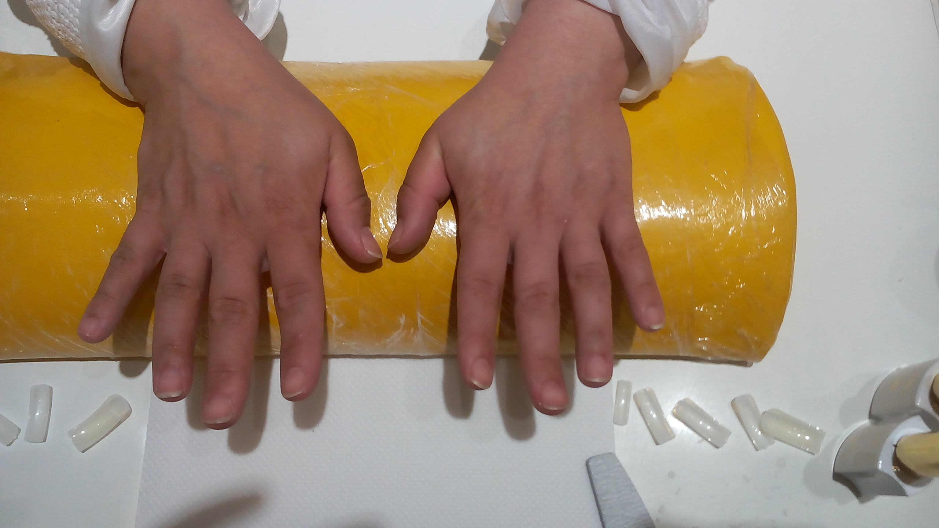 Antes do alongamento de unha depilador(a) maquiador(a) manicure e pedicure designer de sobrancelhas