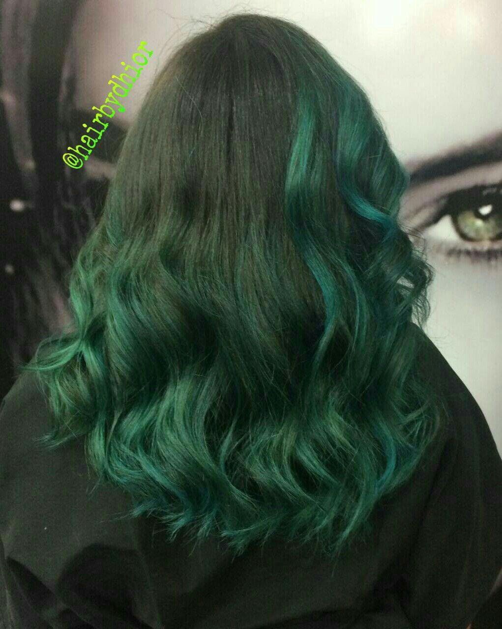 Mechas com Matização na Cor Verde cabelo cabeleireiro(a)
