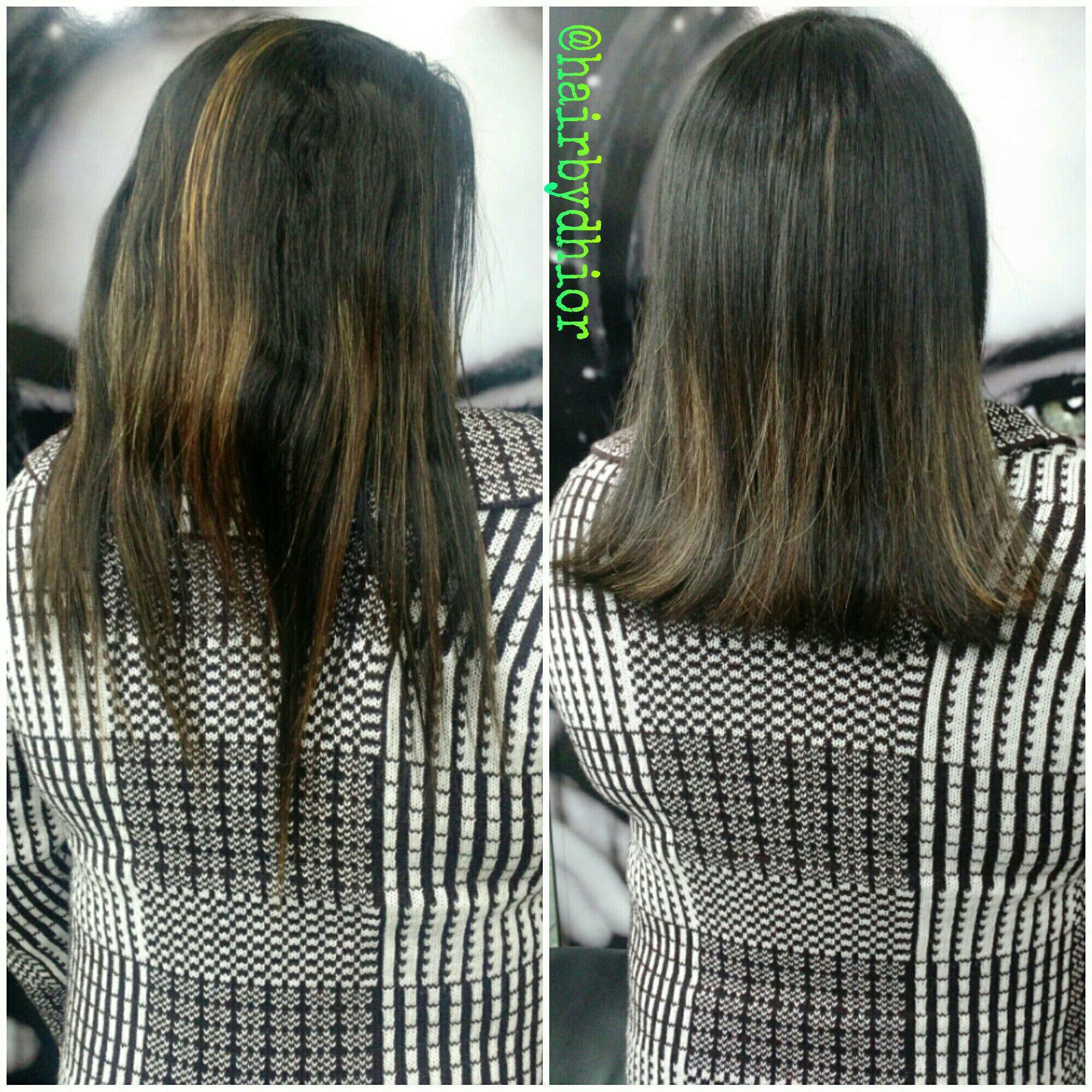 Hidratação mais Corte e Escova cabelo cabeleireiro(a)