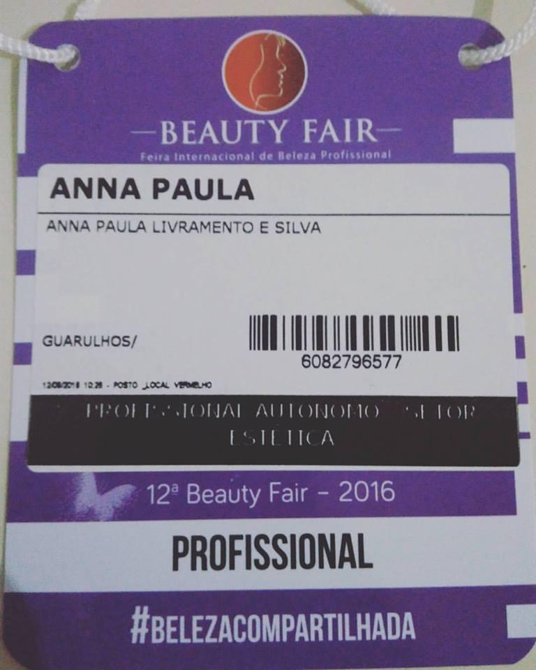 Beauty Fair 2016 estética esteticista recepcionista designer de sobrancelhas maquiador(a)