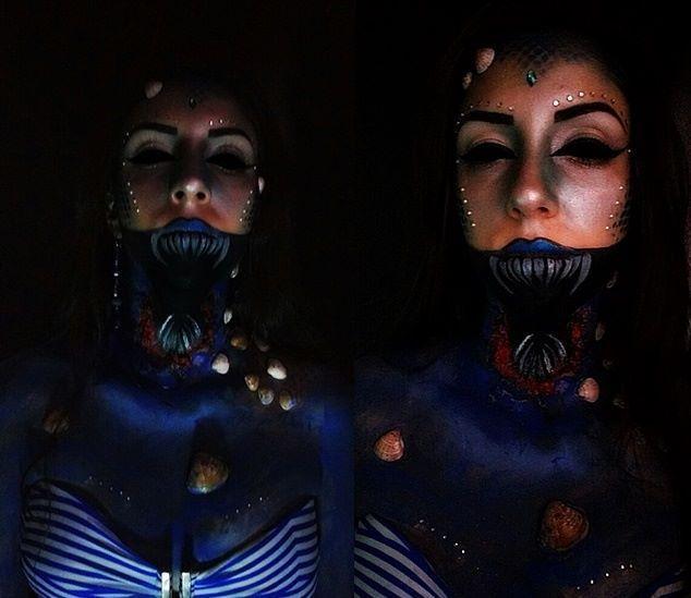 Maquiagem Artística Sereia maquiagem esteticista depilador(a) manicure e pedicure maquiador(a)