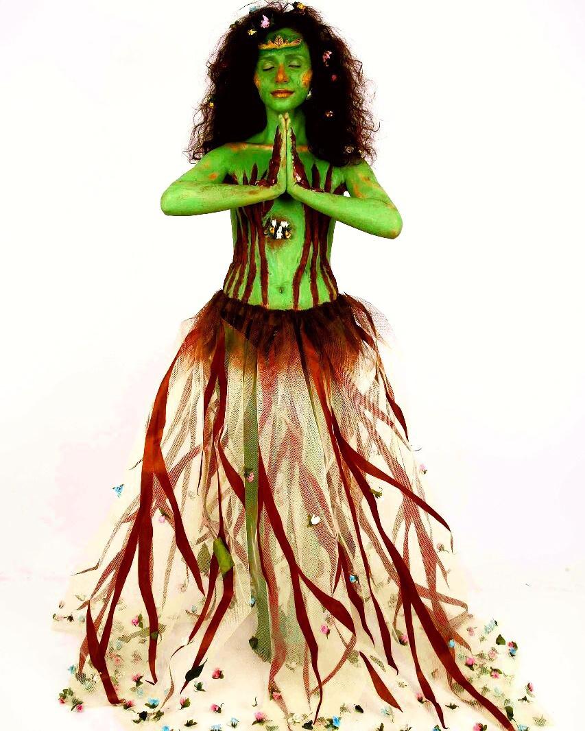 Bodypainting inspirado na Deusa Asherah, a Deusa-Árvore  #makeup #conceptualmakeup #maquiagemconceitual #maquiagem #maquiagemartística #bodypainting #pinturacorporal maquiagem maquiador(a)
