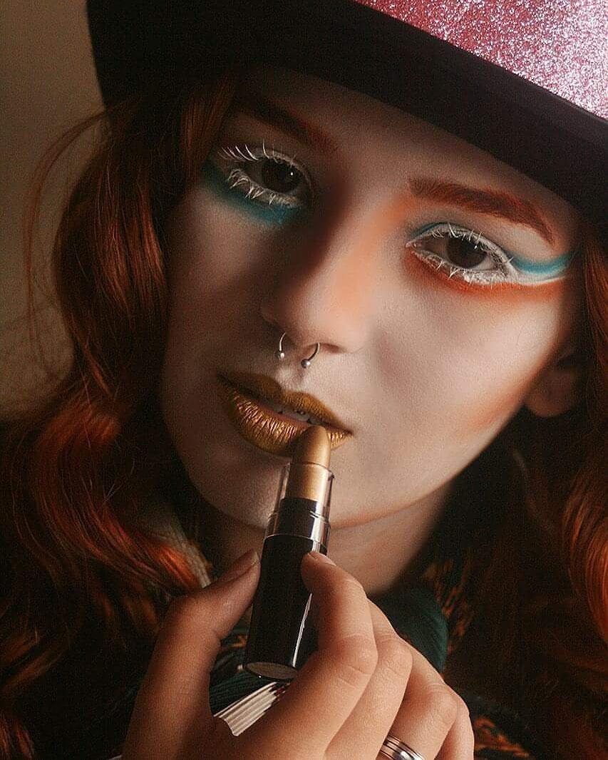Chapeleiro Maluco  #makeup #conceptualmakeup #maquiagemconceitual #maquiagem #bodypainting #pinturacorporal #maquiagemartística #chapeleiromaluco maquiagem maquiador(a)