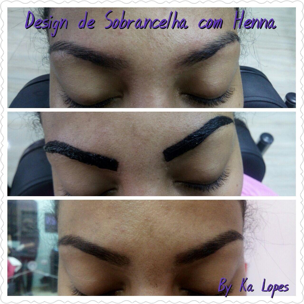 Design com Henna e correção de falhas outros depilador(a) designer de sobrancelhas